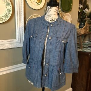 Style and Co. Lightweight Jean Jacket Sm Petite